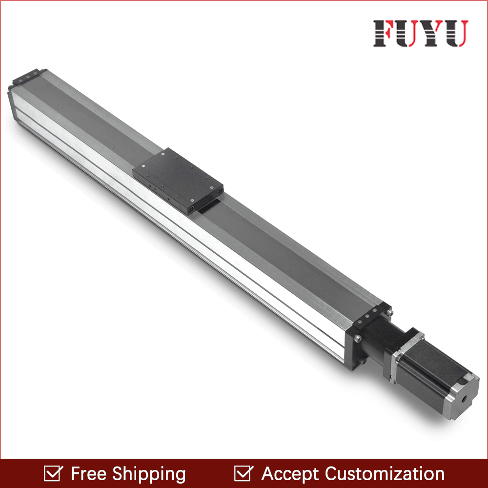 Free shipping 1300mm stroke motor ball screw driven cnc linear rail guide slide stage for position system free shipping fuyu brand belt driven 2000mm stroke linear motion guide rail for printer