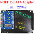 NGFF M.2 to SATA key B adapter card, supports SATA-based B Key SSD only,unsupport PCI-E based B key&any M key SSD,only 22*42mm