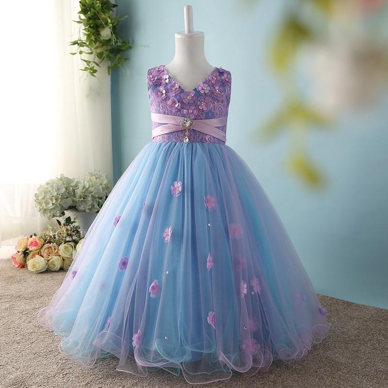 Rosa Niña De Las Flores Para Bodas Vestidos De Graduación