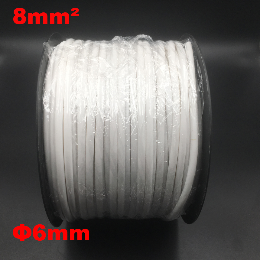 1roll 8mm2 PVC 6mm ID White Handwriting Ferrule Printing Machine Number Plum Tube Wire Sleeve Blank Cable Marker 1200pcs ec 0 1 5mm2 arabic numeral 1 6 letter pattern pvc flexible print sleeve concave tube label wire cable marker