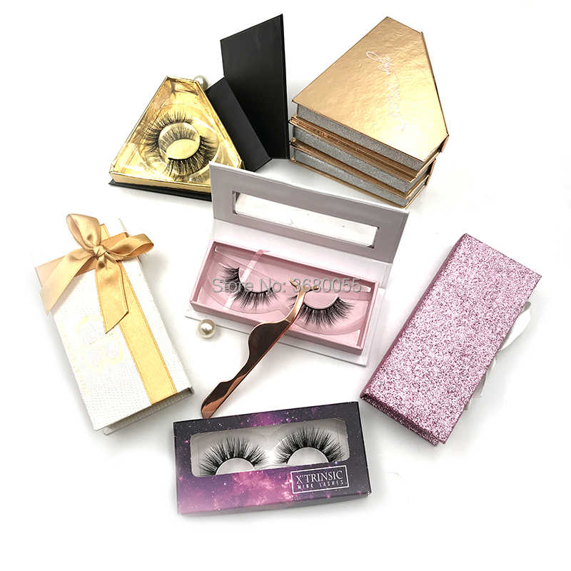 af45f3a5ff6 Private Label Own Brand Fake Mink Eyelashes Makeup Thick Real 3D Mink False  Eyelashes mixed 100pairs