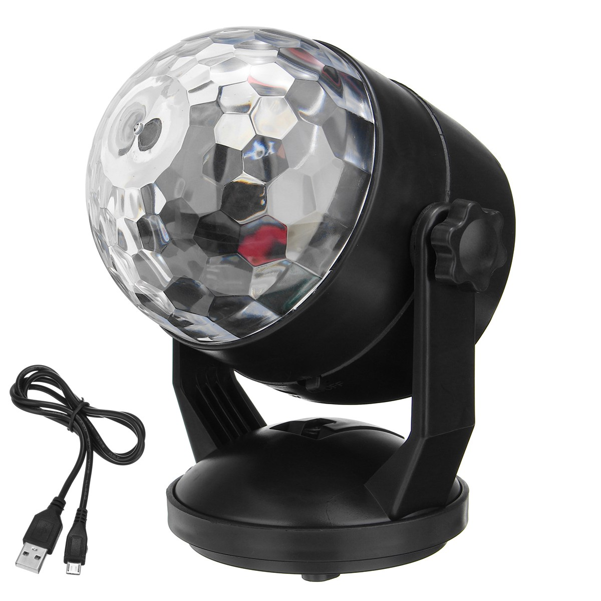 LED Magic Crystal Ball RGB Stage Light Voice Sound Control Night Lamp USB Battery Power Disco Crystal DJ Club Bar Party Decor icoco sound control light 3w e27 light bulb voice activated intelligent led sensor lamp small night light for corridor bedroom