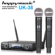 High Quality Professional Dual Wireless Microphone System stage performances a two wireless microphone Karaoke mic