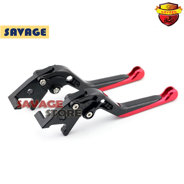 ФОТО For SUZUKI Burgman 125 2014-2015 Red Motorcycle Extending Brake Clutch Levers extendable CNC Aluminum