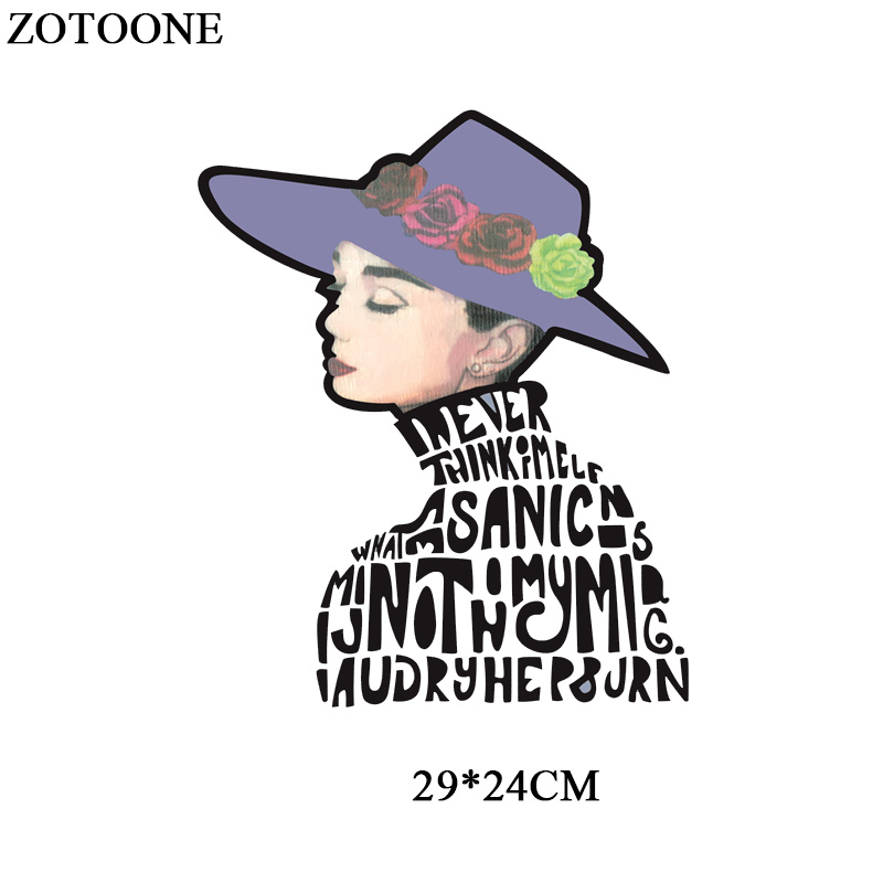 ZOTOONE Letter Girl Patch Iron on Transfers For Clothes Heat Transfer Vinyl For T shirts Thermal Transfer Paper Applique Sticker in Patches from Home Garden