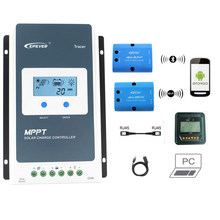 Tracer 2210AN 20A MPPT שמש מטען Controller 12 v 24 v LCD EPEVER רגולטור MT50 WIFI Bluetooth מחשב תקשורת נייד 2210A(China)