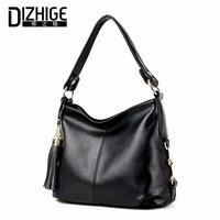 DIZHIGE Brand Tassel Shoulder Bags Genuine Leather Crossbody Bags Women High Quality Sheepskin Women Handbags Chain