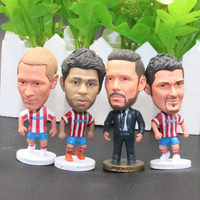 5pcs Set Atletico De Madrid MA Club Football Soccer Player Star Collection Doll Dolls Display Toys