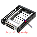 "Hot Swap Dual Bay 2.5 ""SATA III Hard Drive Enclosure hdd caddy bandeja Caixa de Rack caso hd disco rígido interno Para O desktop laptop"