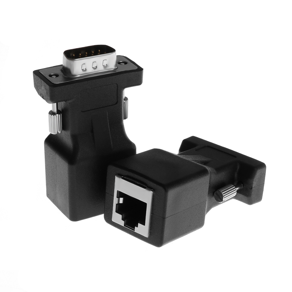 Net Cable Adapter Female//Male VGA RGB HDB To LAN CAT5 CAT6 RJ45 VGA Extender
