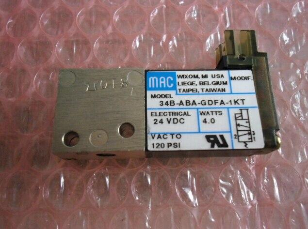 все цены на USA MAC genuine original high-speed solenoid valve 34B-ABA-GDFA-1KT  DC24V онлайн
