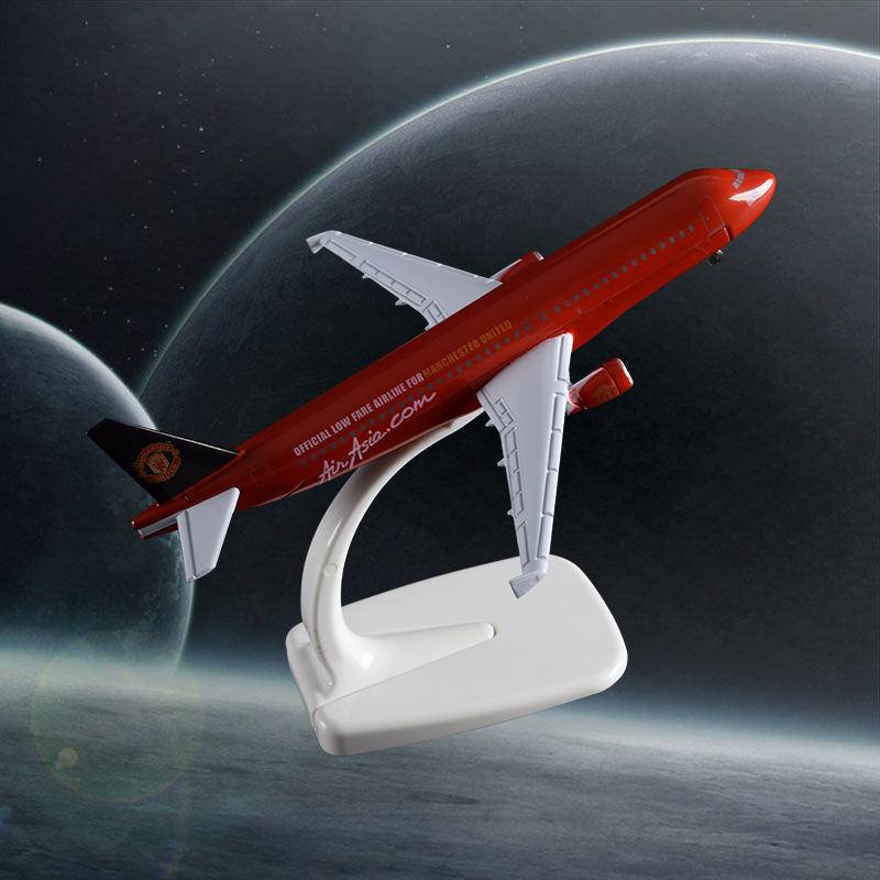 16cm A320 Air Asian United Aircraft Model Air Asia United Airline Airplane Metal Model Birthday Holiday Gift Travel Souvenir Toy