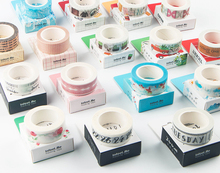 18 Designs mixed high quality masking tapes set 15mm*7M DIY lovely days theme washi tape gift diary journal album deco
