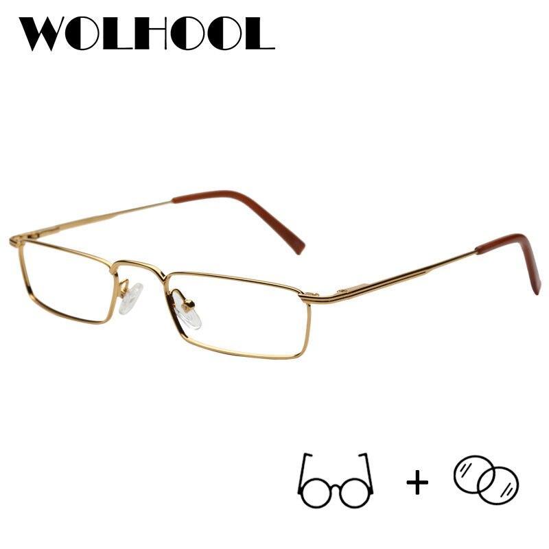 bd0f549bd5 Classic Gentlemen Rectangle Metal Frame Eyeglasses Eyewear Optical Frame  Black Frames Small Glasses Prescription Eye Glasses-in Prescription Glasses  from ...