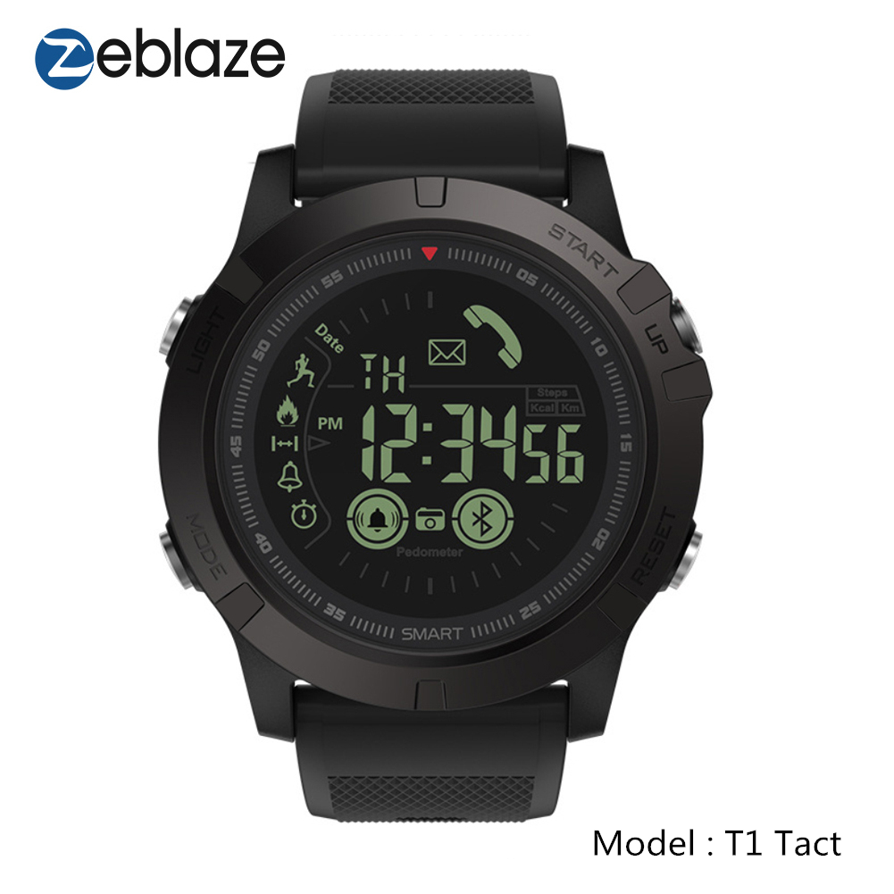 Zeblaze VIBE 3 Men Smart Watch,T1 Tact Military Style Sports Fitness Tracker Pedometer Smartwatch Smart Digital Clock Watches