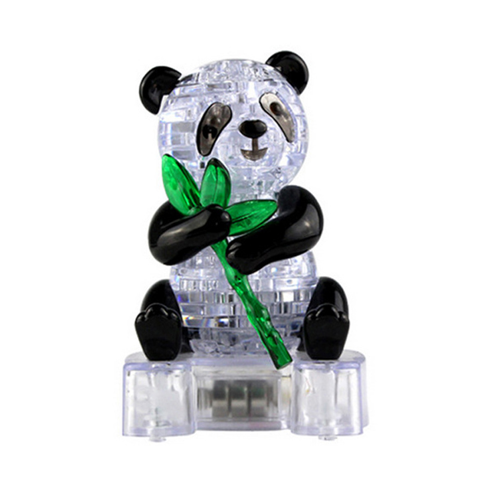 2017 Coolplay Crystal Puzzle Cute Panda Model Puzzle Popular Kids Toys DIY Building Toy Gift Gadget Crystal 3D Puzzle