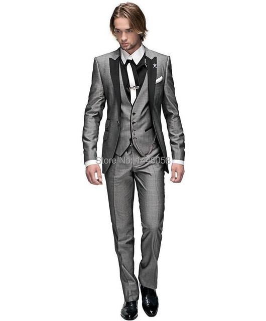 2018 Italiano Padrinos de Boda Traje de Negocios Por Encargo Vestido Formal  de Los Hombres Trajes a140cd6ac43
