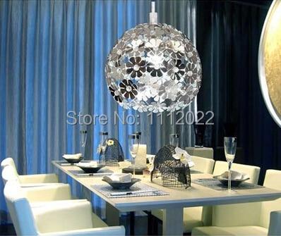 Aluminum Lighting Fitting Living Room Modern Brief Bedroom Lights Crystal Pendant Light 110V 220V 20cm E27 Base In From On
