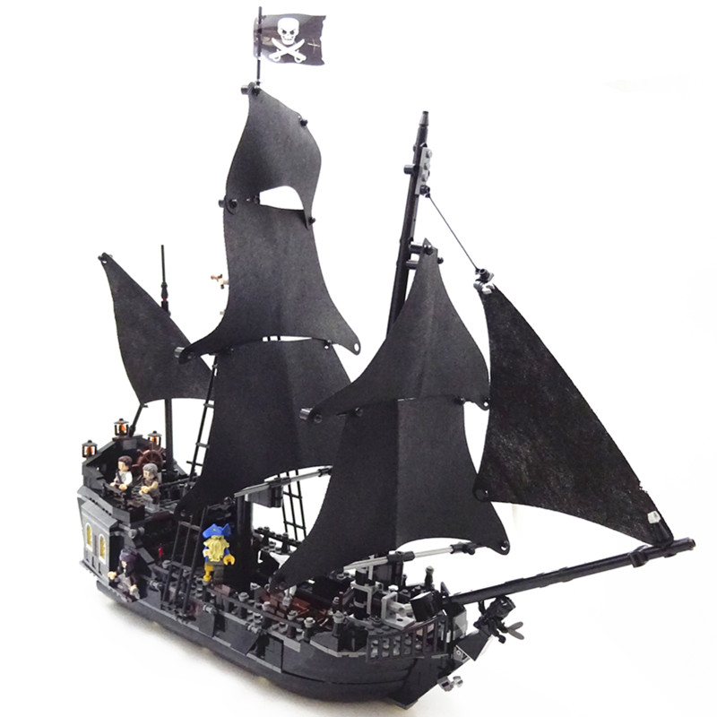 16006 804 pièces Pirates des caraïbes la perle noire bateau Pirate modèle ensemble de construction Kits Lego compatibles briques jouets pour 4184