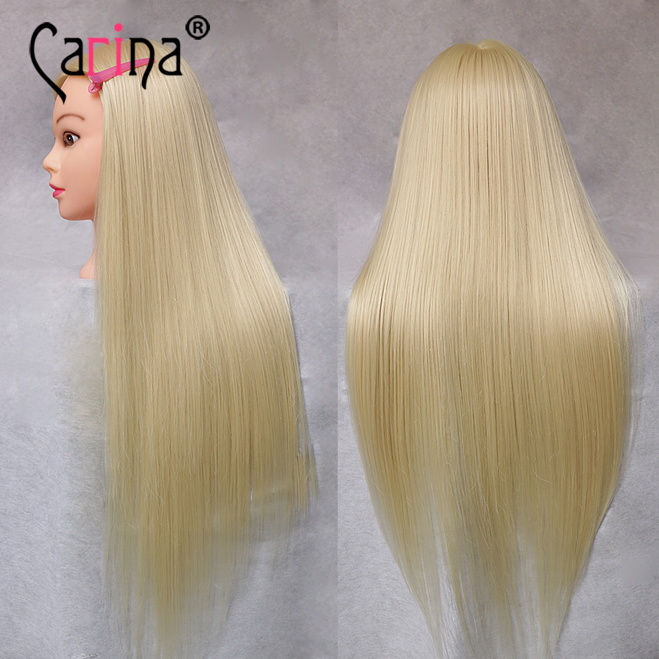 22'' Manekin Head With Hair Mannequins For Sale Hairdresser's Head Doll For Hair Styling Training Head Practice Head Hairdresser