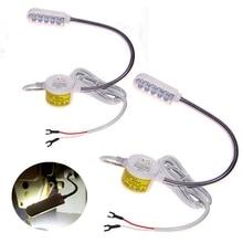 Швейные Светильник лампы 10 светодиодные лампы энергосберегающие «гусиная шея» и магнитным креплением для швейной машины подходит для пошива работу с угловой Рабочий светильник Инж