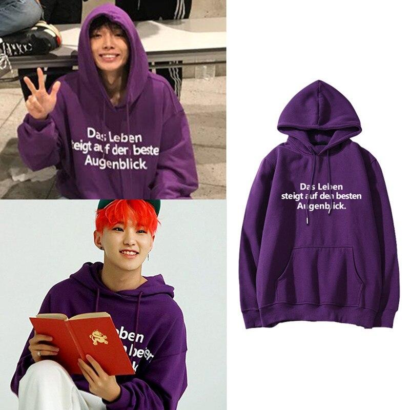 Mainlead KPOP SEVENTEEN IKON Hoodie HOSI Pullover Purple Sweatershirt Casual Letter Tops ARMY