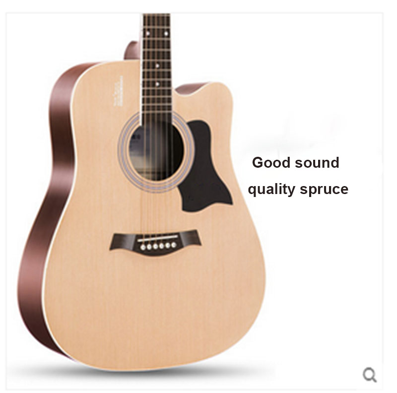 Folk guitar beginners students novice begin to practice wood guitar 40 inch 41 inch guitar instruments 30 34 36 inch novice guitar beginner folk guitar six chord little guitar