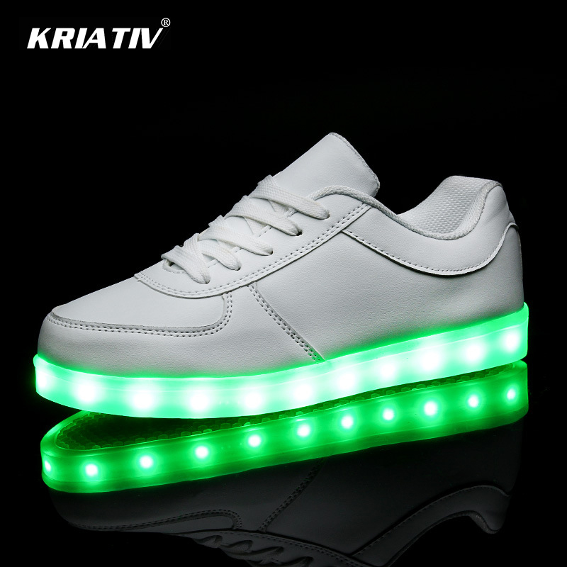 KRIATIV Led Children shoes Enfant Lighted Colorful Glowing girl shoe Charge Luminous led slippers boy LED luminous Sneakers itop merci chef kebab knife kebab slicer electrical shawarma cutter slicer knife gyro cutter with 2 blades free high quality