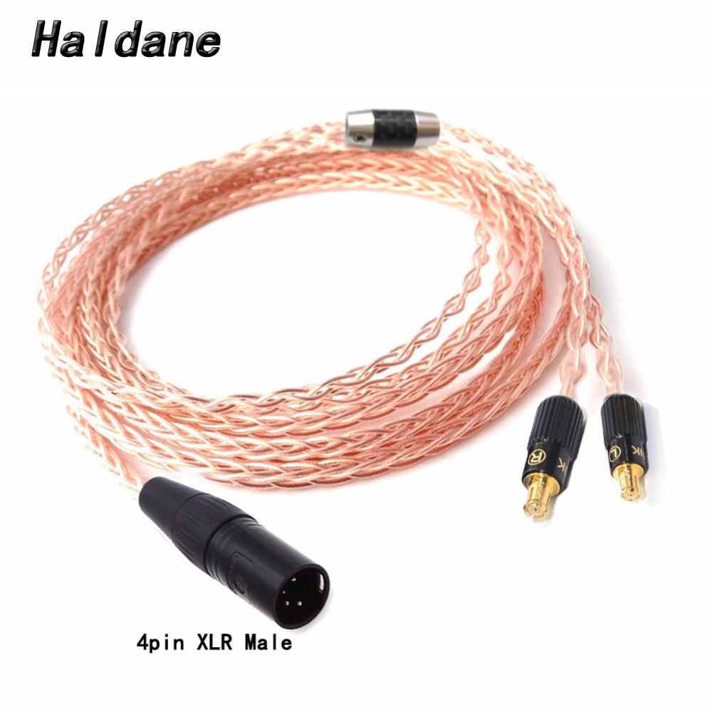 Home Free Shipping Haldane 2.5/3.5/4.4mm/4pin Xlr 8 Croes Single Crystal Copper Headphone Upgrade Cable For Cks1100 E40 E50 E70 Sufficient Supply