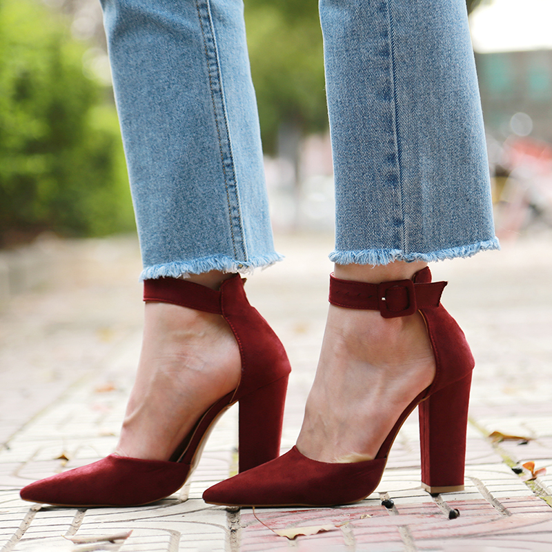 2018 Sexy Classic High Heels Women's Sandals Summer Shoes Ladies Strappy Pumps Platform Heels Woman Ankle Strap Shoes 16