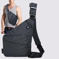 Summer Black Single Shoulder Bags For Men Waterproof Nylon Crossbody Bags Male Bag Messenger