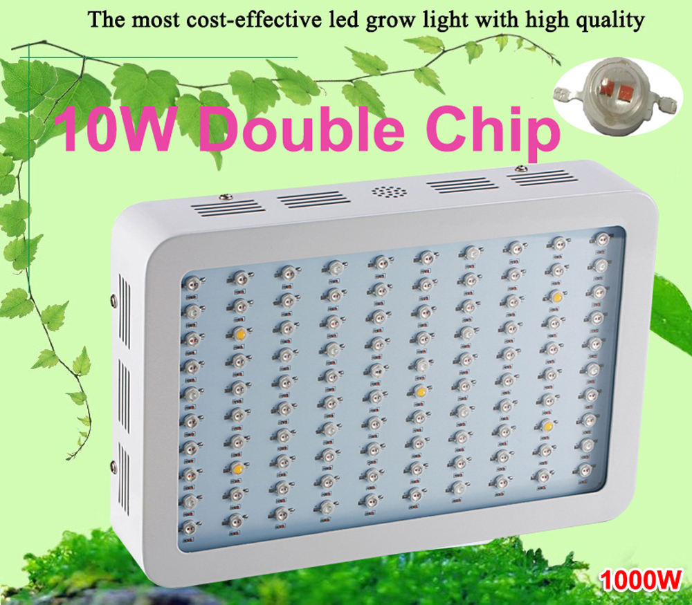 1000W LED Grow Light 10W Double Chips 400w SMD Full Spectrum LED growth lamp for aquarium and hydroponics system indoor plants dhl ems 5 sets new for om ron proximity switch e2a m18ks08 wp c1
