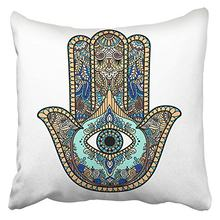 f32c5064f5f Throw Pillow Covers Cases ed Hamsa Hand Symbol Fatima Religious Sign All  Seeing Eye Vintage s Print Pillowcase Case Cover