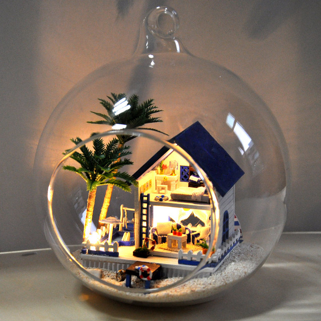 Manual DIY Small House Glass Ball Assembly Of Model Toys Romantic Birthday Gifts To