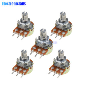 5Pcs WH148 B1K Linear Potentiometer 3Pin Shaft With Nuts And Washers Ohm Linear Taper Rotary Potentiometers b1k
