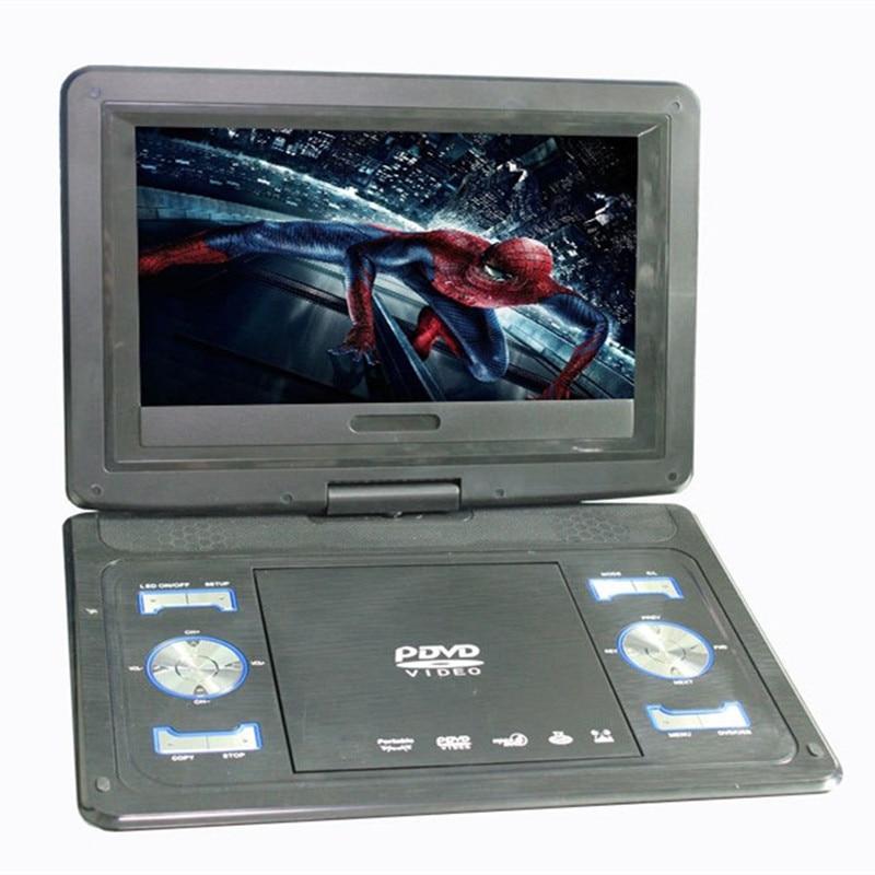 13,8 düymlük nazik portativ DVD pleyer ekranı olan VCD pleyer, USB EVD kartı və HD TV giriş AV çıxışını 270 dərəcəyə çevirir