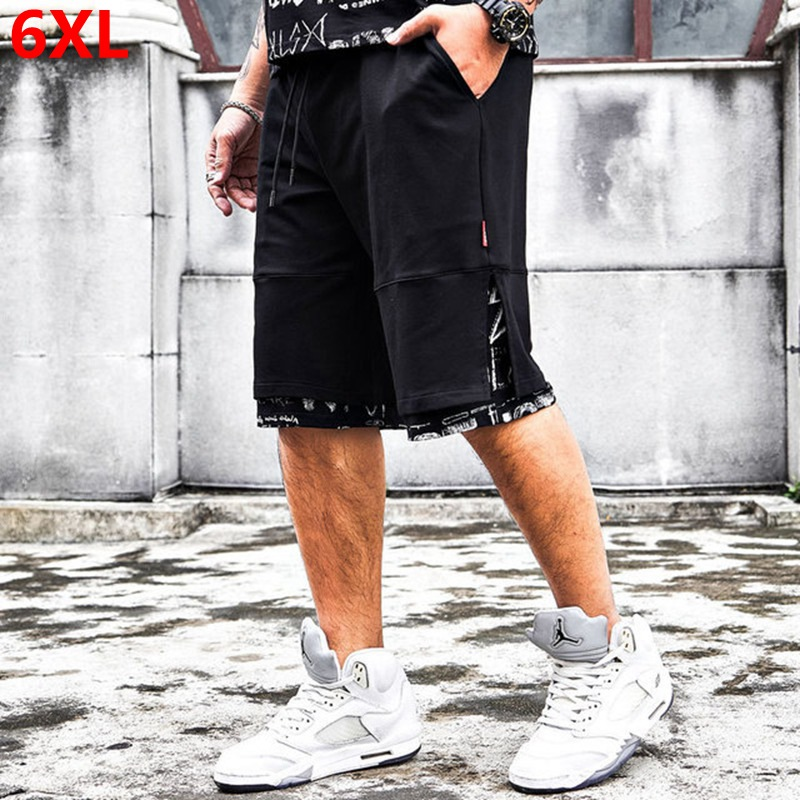 Large Size Shorts Men's Oversized Casual Clothing 6XL Elastic Waist Summer Cotton