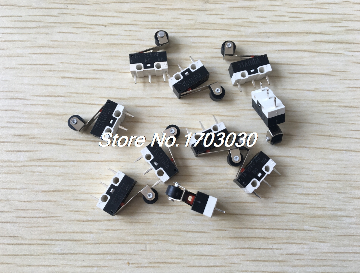 10Pcs NO NC Momentary Roller Hinge Lever SPDT Micro Limit Switches CNC Home LOT 10pcs lot new micro roller long handle lever arm normally open close limit switch kw7 3 s018y high quality