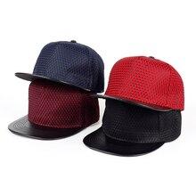 Voron marca SnapBack CAPS hombres rejilla en forma PU de hip hop gorra de  béisbol unisex malla sol hueso sombrero 0197843c2fa