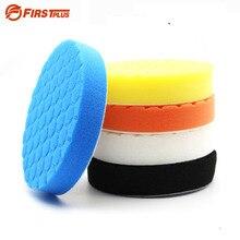 Almohadilla de esponja de pulido para coche, almohadillas de pulido de pintura, cepillo de limpieza, pulidor, 75, 100, 125, 150, 180mm, con almohadilla adhesiva, 5 uds.