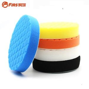 Image 1 - Almohadilla de esponja de pulido para coche, almohadillas de pulido de pintura, cepillo de limpieza, pulidor, 75, 100, 125, 150, 180mm, con almohadilla adhesiva, 5 uds.