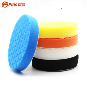 Image 1 - Tampons de polissage pour peinture de voiture, 5 x éponge, tampons de meulage, brosse propre, outils pour polisseuse de voiture 75 100 125 150 180mm avec tampon adhésif