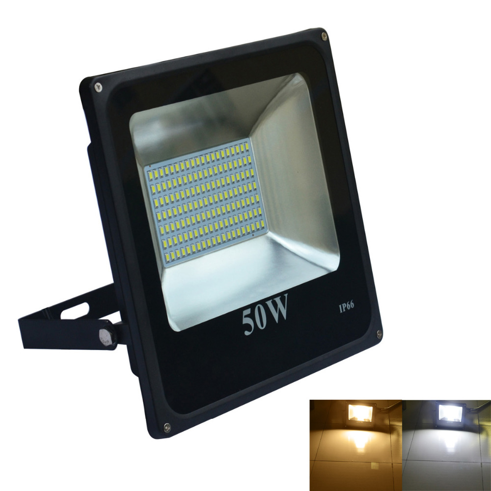 Jiawen 10W 20W 30W 50W IP66 Warm white/Cool white LED Floodlight - Black (AC 220V)