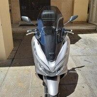 変更されたオートバイ pcx 高い 15 センチメートルウインドスクリーン風防フロントガラス風ボード用 honda pcx 125 150 2018 2019 -