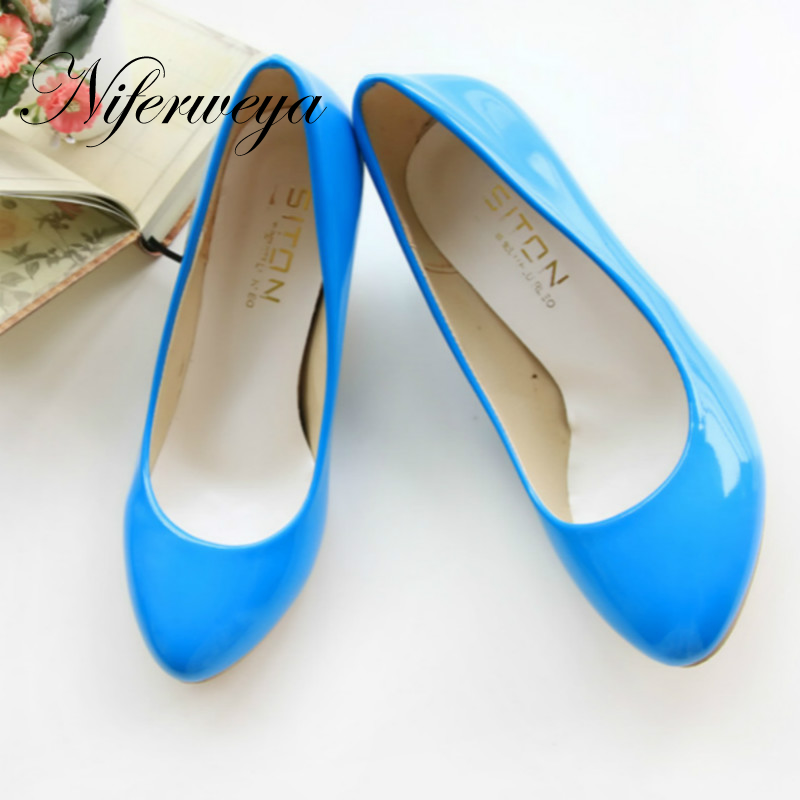 2018 New spring/Autumn women Pumps fashion Candy color Pointed Toe Slip-On ladies shoes big size 34-47 high heels zapatos mujer kerastase керастаз спесифик шампунь ванна двойного действия divalent 1000 мл