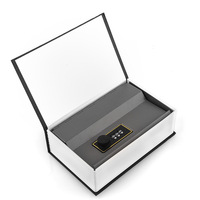 High Quality Black Dictionary Hidden Secret Book Design Valuables Secretive Money Cash Box Security Code Key