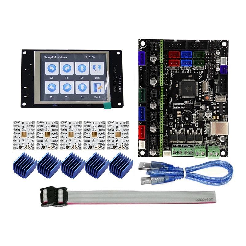 Pour MKS GEN L Compatible avec TFT32 LCD Support D'affichage TMC2208 Moteur Pilote 3D Kits D'impression XXM8