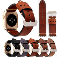New  for Apple Watch Strap apple watch 34/42MM leather strap retro headband