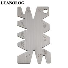 цена на Welding Tools Stainless Steel Screw Thread Cutting Angle Gage Gauge Measuring Tool Welding Inspection Ruler