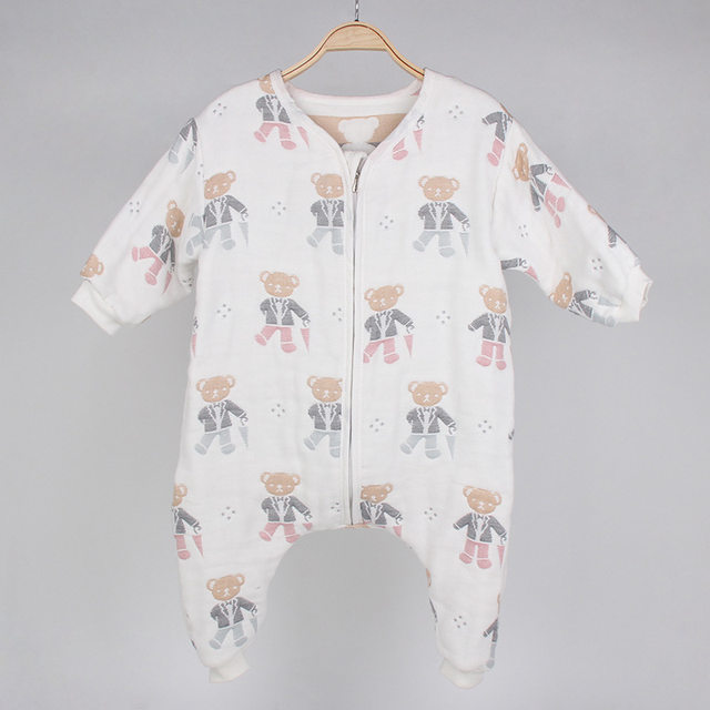 Kids Boys Girls Sleeper Long Sleeve mushroom Pattern Sleepwear Pijamas  Newborn Infant Baby Sleep and Play suit Autumn Blanket e9cd5ff1c